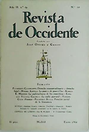 REVISTA DE OCCIDENTE, nº10. Año II. 2ª