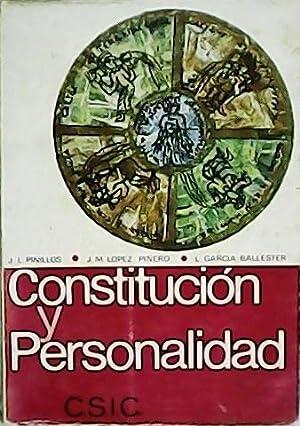 Contitución y personalidad. Historia y teoría de: PINILLOS, José Luis,