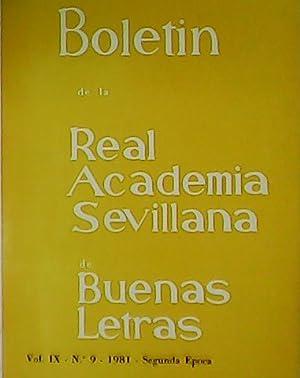 Boletín de la Real Academia Sevillana de: VV. AA.-