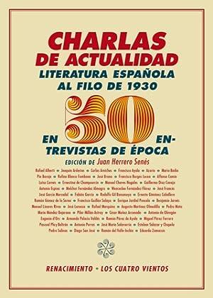 Charlas de actualidad. Literatura española al filo: VV. AA.-