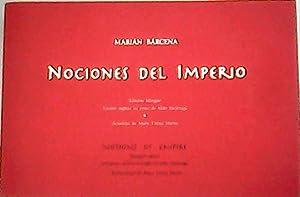 Nociones del imperio. Bilingüe edición. Versión in: BÁRCENA, Marián.-