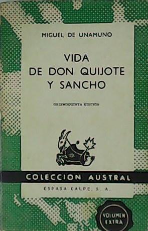 Vida de Don Quijote y Sancho.: UNAMUNO, Miguel de.-