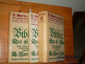 Die gantze Heilige Schrifft Deudsch. Wittenberg 1545.: Luther, Martin D.,