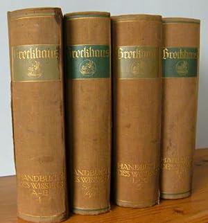 Brockhaus. Handbuch des Wissens in vier Bänden. Mit 7500 Abbildungen und Karten im Text und ...