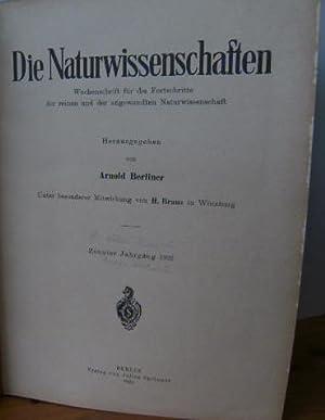 Die Naturwissenschaften. Wochenschrift für die Fortschritte der reinen und der angewandten ...