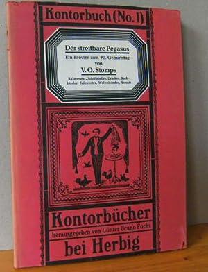 KONTORBUCH (No. 1) Der streitbare Pegasus. Rabenvater, Schriftsteller, Drucker, Buchbinder, ...