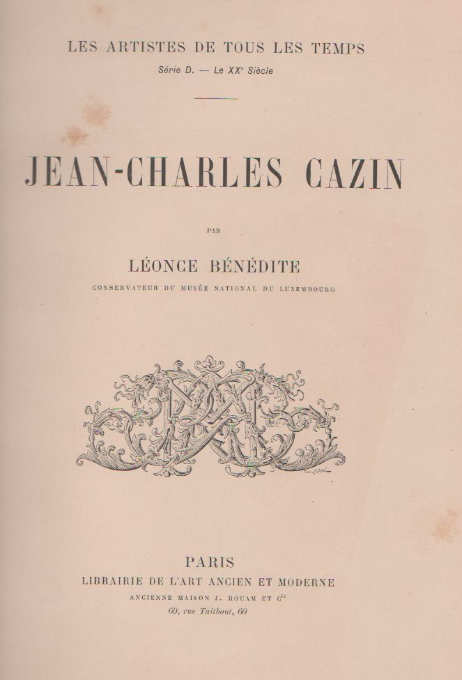 Catalogue of Paintings by Jean-Charles Cazin: Exhibited Under the Management of the American Art Association (Classic Reprint)