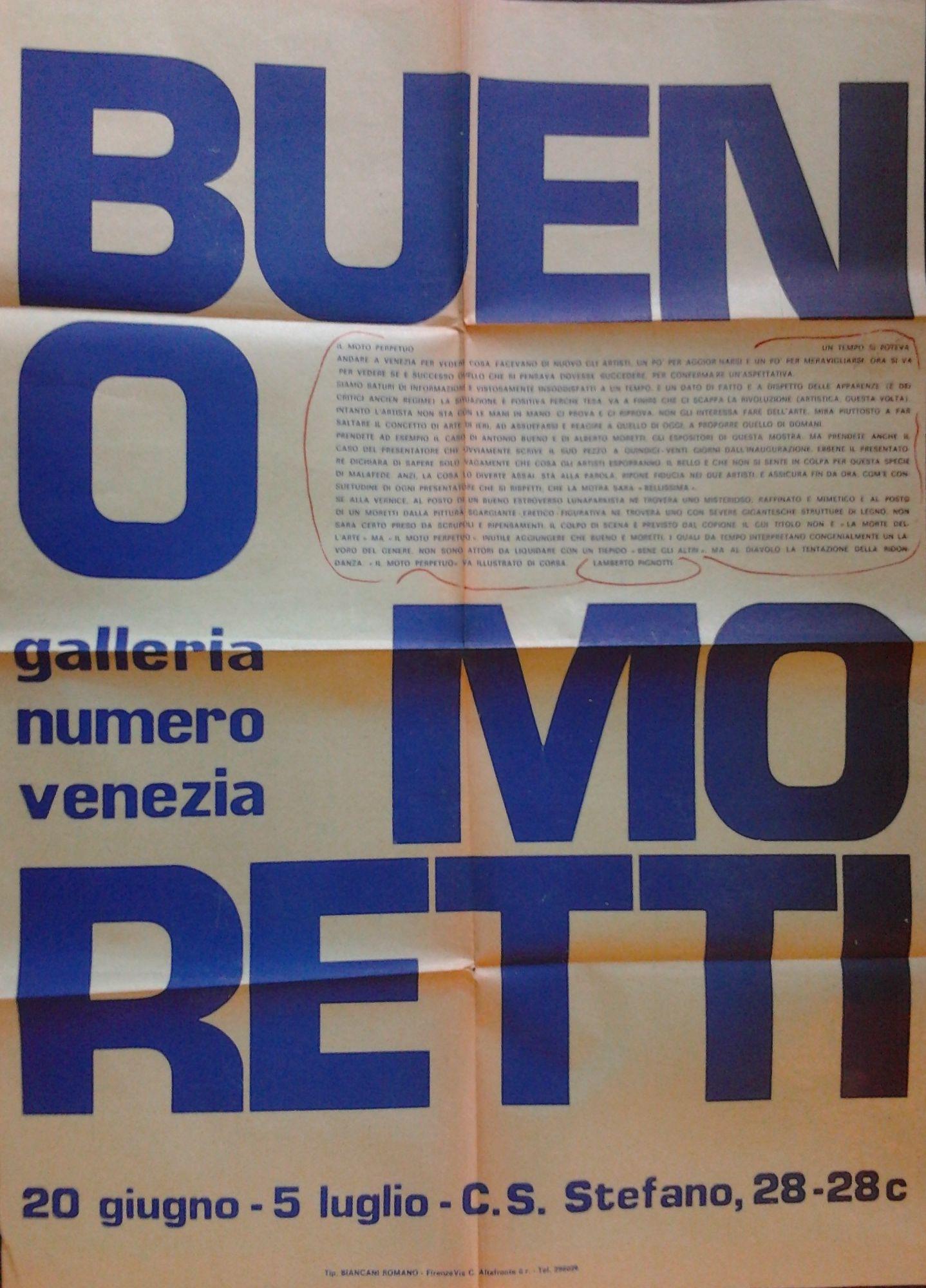 Bueno Moretti Galleria Numero Venezia By Bueno Antonio Moretti