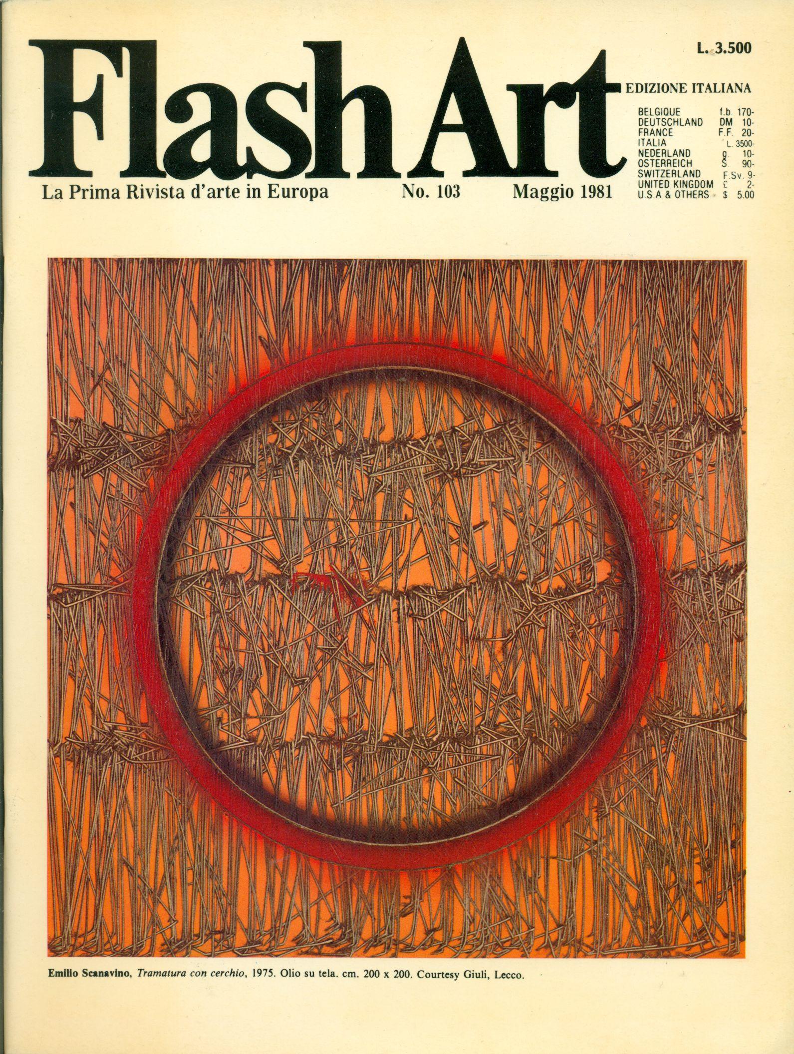 Top Flash Art La Prima Rivista D'arte in Europa Direzione Helena  JF95