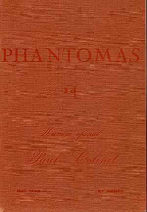 Phantomas 14. Numero spécial, Paul Colinet. Mai: PHANTOMAS. Revue. Directeurs: