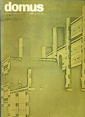 Domus. N. 430, Settembre 1965. Direzione: Giò: DOMUS ARCHITETTURA ARREDAMENTO