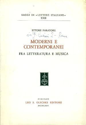 Moderni e contemporanei fra letteratura e musica: PARATORE Ettore (Chieti