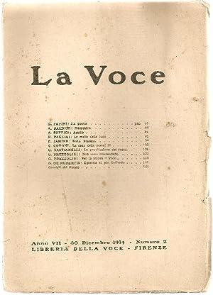 La Voce. 30 Dicembre 1914: LA VOCE DIRETTA