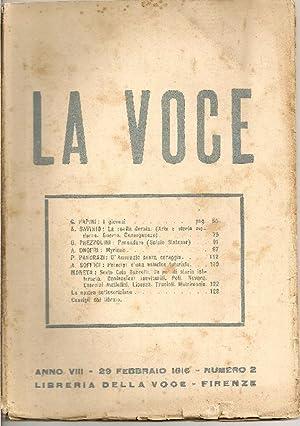 La Voce. 31 Gennaio 1916: LA VOCE DIRETTA