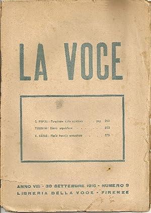 La Voce. 30 Settembre 1916: LA VOCE DIRETTA