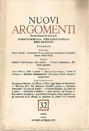 Rivista bimestrale diretta da Alberto Moravia, Pier: NUOVI ARGOMENTI