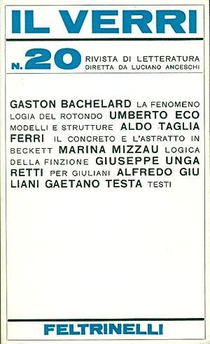 Il Verri. N. 20 - Febbraio 1966: IL VERRI. Rivista