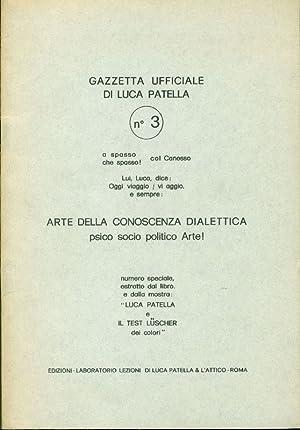 Gazzetta Ufficiale di Luca Patella n. 3. A spasso / che spasso col Canosso: PATELLA, Luca ...