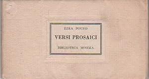 Versi prosaici: POUND, Ezra (Hailey,