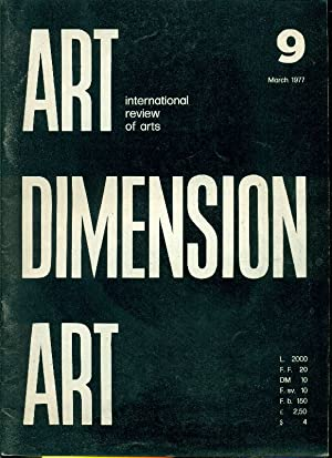 Art Dimension N. 9 March 1977: ART DIMENSION International
