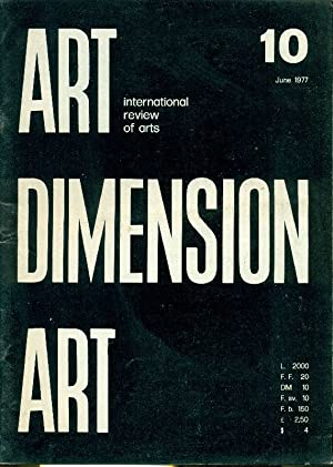 Art Dimension N. 10 June 1977: ART DIMENSION International