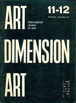 Art Dimension N. 11-12 September-December 1977: ART DIMENSION International