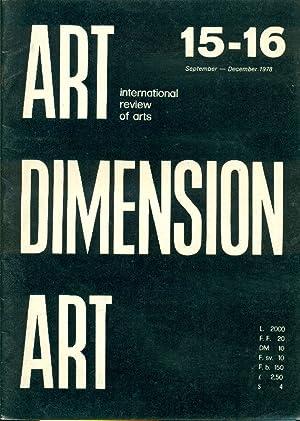 Art Dimension N. 15-16 September- December 1978: ART DIMENSION International