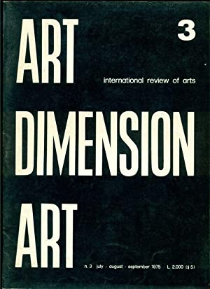 Art Dimension. International review of arts. N.3: ART DIMENSION ART.