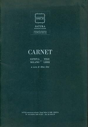 Carnet. Genova/Milano = Tele/Libri: GINI Gino