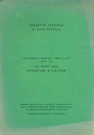 Gazzetta Ufficiale di Luca Patella. Indicazioni, a: PATELLA, Luca Maria
