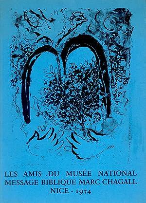 Les Amis du Musée National Message Biblique: CHAGALL, Marc (Vitebsk,