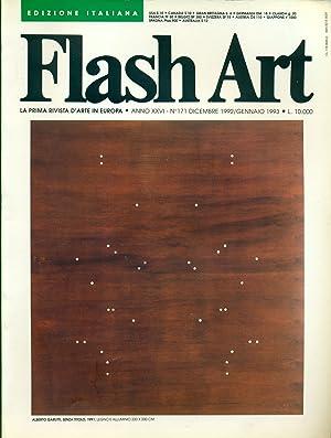 Flash Art. Dicembre1992/Gennaio 1993, N. 171, Anno: FLASH ART La