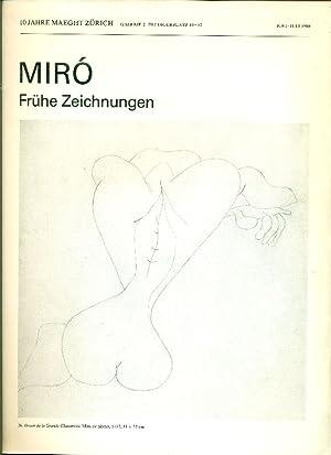 Mirò Fruhe Zeichnungen: MIRO', Joan (Barcellona