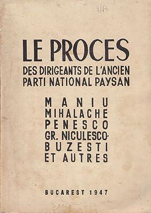 Le proces des dirigeants de l'ancien Parti: ANONIMO