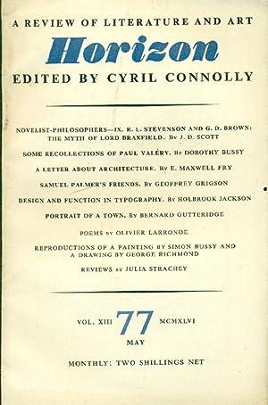 Horizon. May 1946, No. 77: HORIZON. A review
