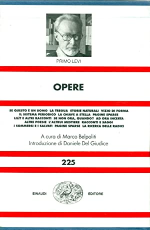 Opere: LEVI, Primo (Torino,