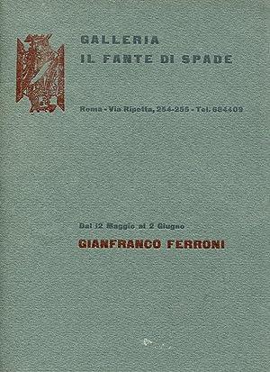 Plaquette di mostra, Roma 12 maggio-2 giugno: FERRONI, Gianfranco (Livorno,