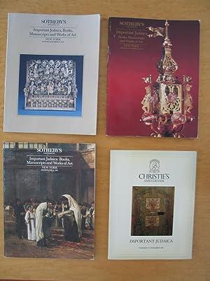 Important Judaica [Four Auction Catalogs 1987-1990]: Christie's, Sotheby's