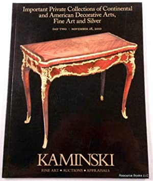 Kaminski: Important Private Collections Of Continental And American  Decorative Arts, Fine Art And.