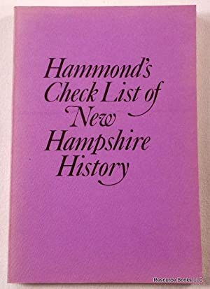 Check List of New Hampshire History