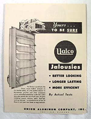 Yours to be Sure, UALCO Jalousies : Better Looking, Longer Lasting, More Efficient : By Actual ...