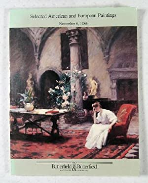 Selected American and European Paintings : San: Butterfield & Butterfield