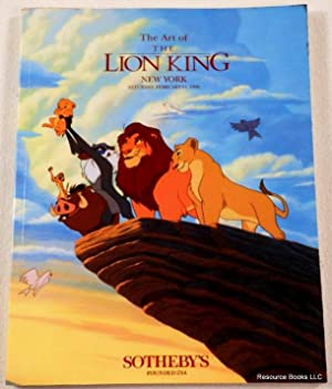 The Art of The Lion King. Sotheby's New York: February 11, 1995