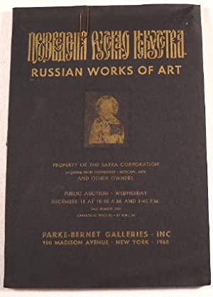 Russian Works of Art, Property of The Satra Corporation, Aquired from NovoExport, Moscow, USSR, a...
