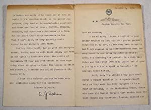 Typed Letter Signed By A. J. Villiers Aboard S. S. American Farmer, United States Lines, 1933