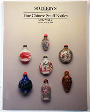 Fine Chinese Snuff Bottles. Sotheby's New York: June 27, 1986
