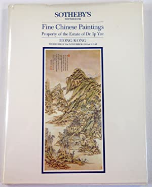 Fine Chinese Paintings. Property of the Estate of Dr. Ip Yee. Hong Kong: 21st November 1984
