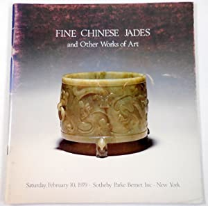 Fine Chinese Jade Carvings and Works of Art. New York: February 10, 1979. Sale 4214