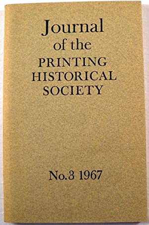 Journal of the Printing Historical Society. No 3 - 1967
