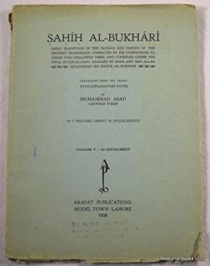 Sahih Al-Bukhari: [Volume V - 1st Installment]: Translated By Muhammad